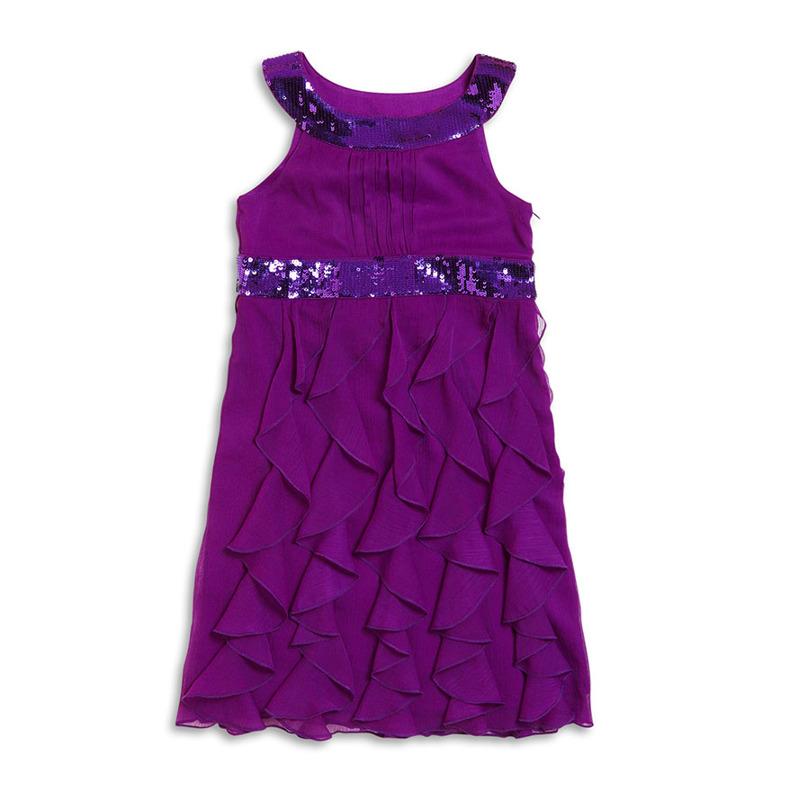 Babyfor -12н/10-017 Платье шифон с пайетками.